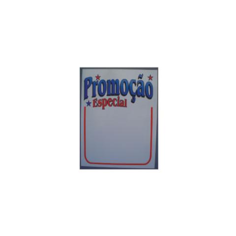Placa PVC promoção e oferta 26x32